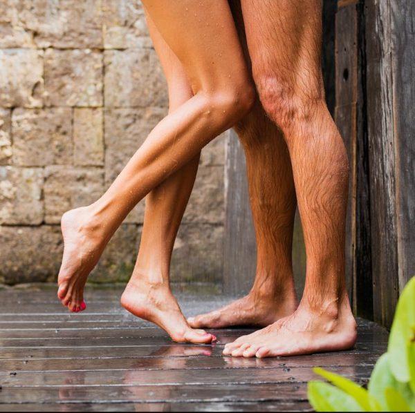 After massage shower